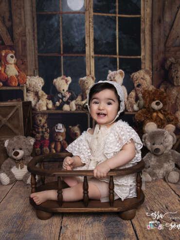 Bir yaş doğum fotoğrafları